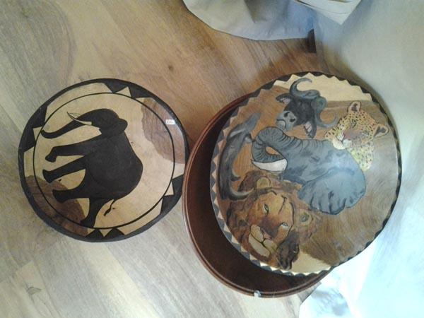 Wooden Decorative or Salad Bowls 2 Large